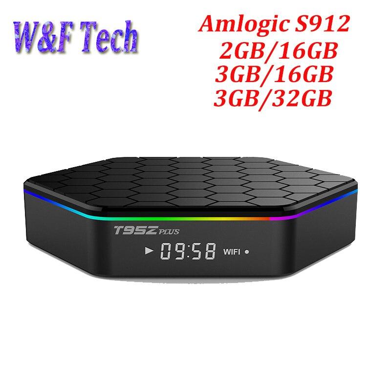 10 pièces T95Z PLUS Android 7.1 TV Box Amlogic S912 octa core cortex A53 2G/16G double Wifi Bluetooth Gigabit 4 K lecteur multimédia-in Décodeurs TV from Electronique    1