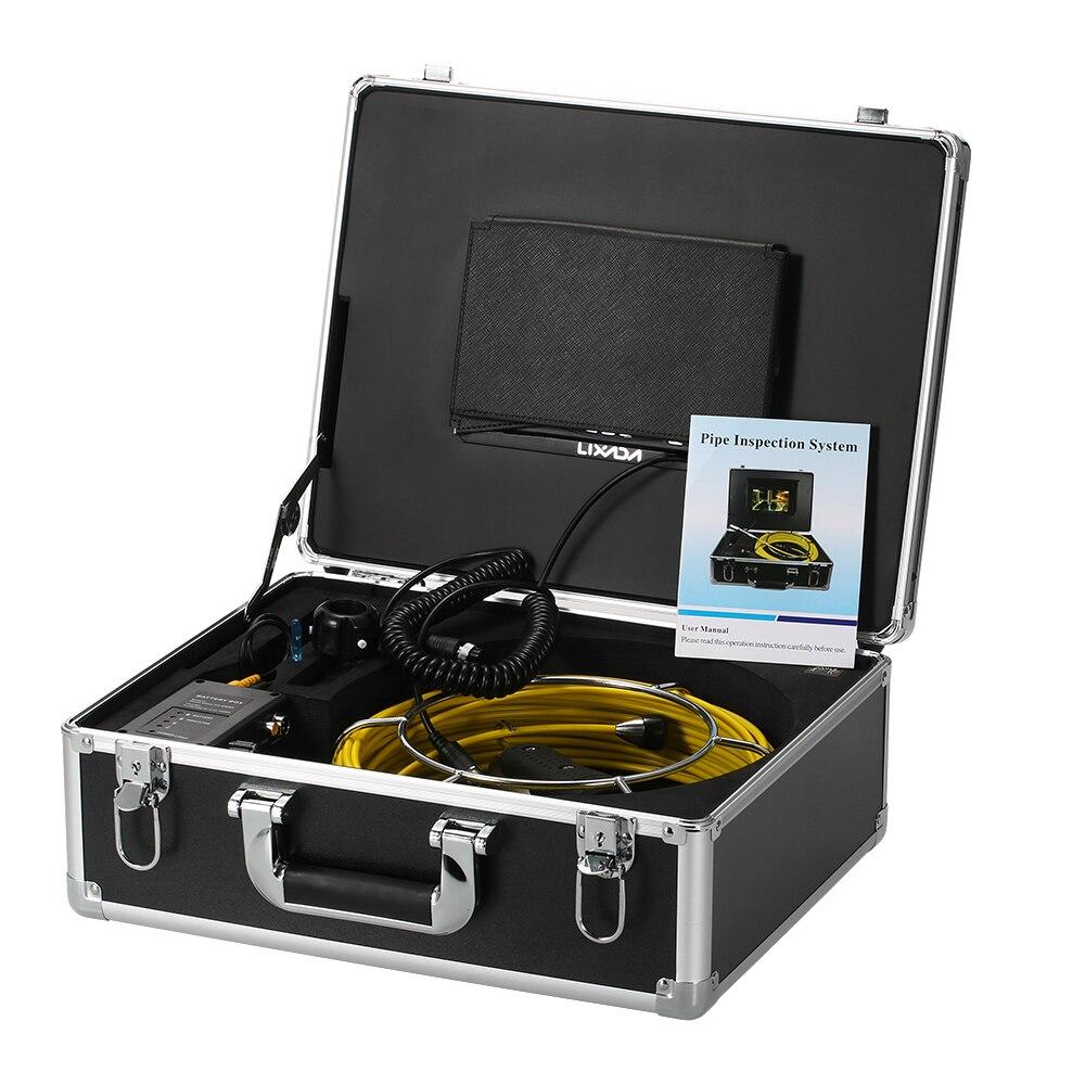 Lixada 30 M égout Endoscope tuyau de vidange Inspection vidéo caméra Pipeline Endoscope industriel Vision nocturne caméra avec 12 LED - 3