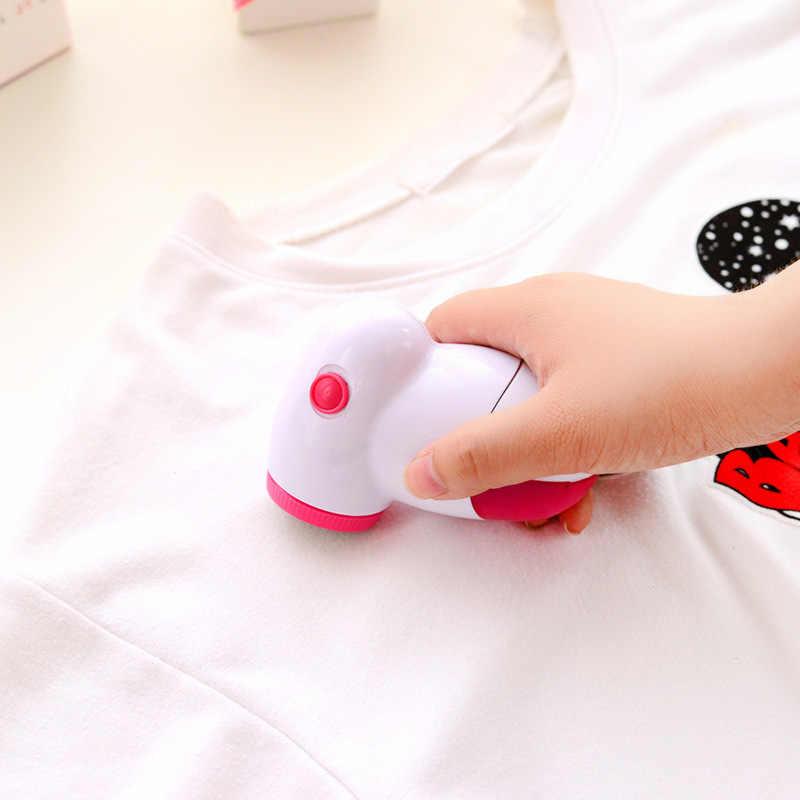 Portabel Listrik Pakaian Lint Penghilang Fuzz Pil Alat Cukur untuk Sweater Tirai Karpet Serat Pelet Mesin Potong Pil Menghapus