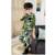 Camuflagem criança Set Roupas 3 Pcs 2015 Terno do Esporte das Crianças para Meninos & Meninas Primavera & Outono Camo Algodão conjunto de Roupas de camuflagem