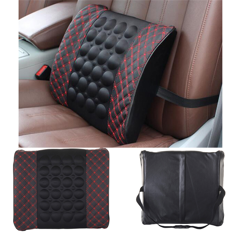 1PCS New Car Lumbar Support Pillow 12V Electric Massage Lumbar Pillow Car Seat Back Relaxation Waist