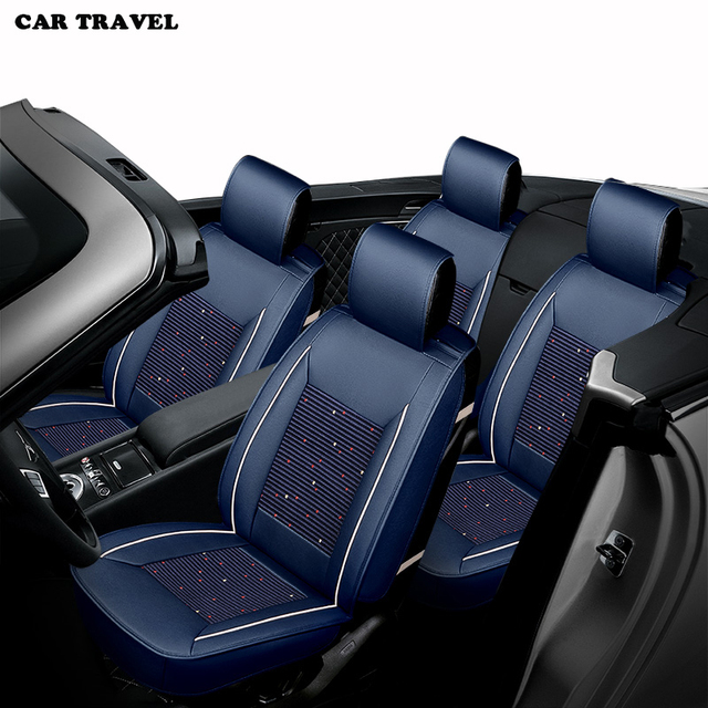 CAR TRAVEL Ice Silk Car Seat Cover Set For Jeep Renegade Compass Wrangler Patriot Seats