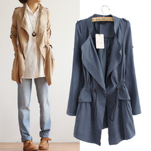 Spring and summer women s long section of the Korean loose thin coat tide Ms Spring