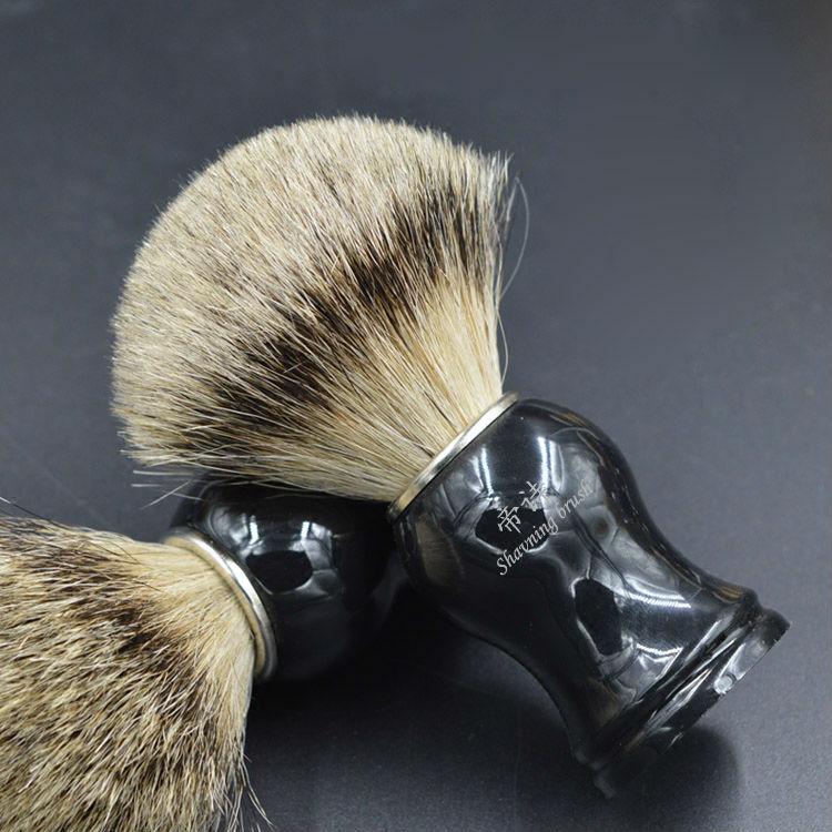 pure silver badger hair shaving brush for good man
