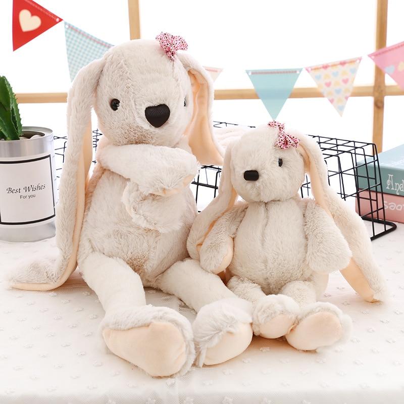 Fashion Cute Long Eared Rabbit Plush Toy Soft Sweet Stuffed Toys Bow