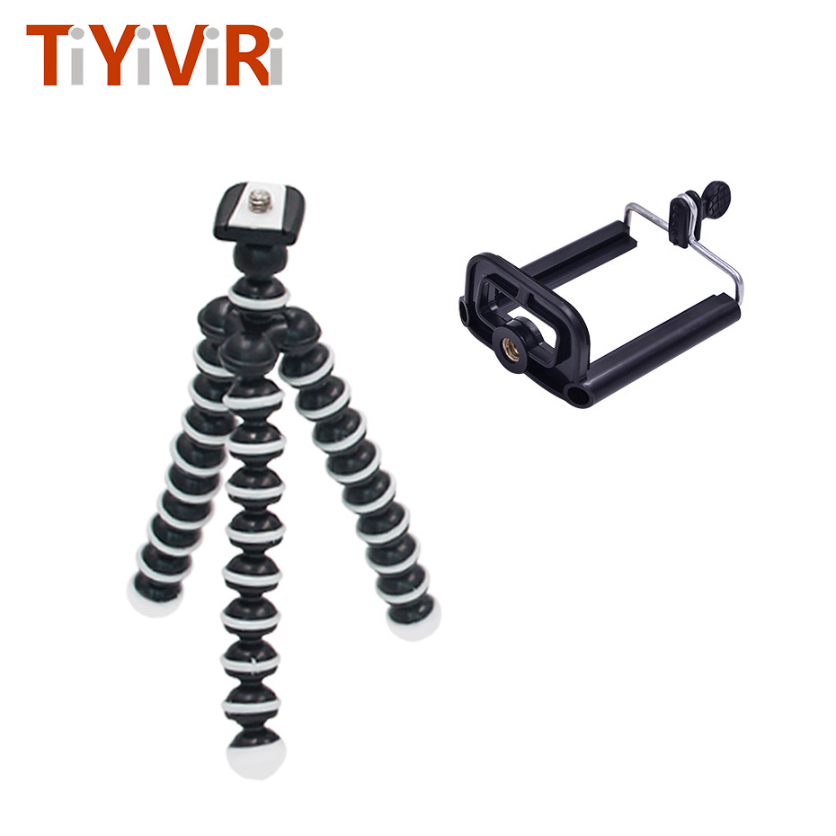 Octopus Mini Tripod Bracket Portable Flexible Mobile Phone Holder Camera Smartphone Tripods Foldable Gorillapod for Gopro Camera duszake dt2 camera mini tripod for phone stand aluminum for iphone tripod for phone camera mini tripod for mobile gorillapod