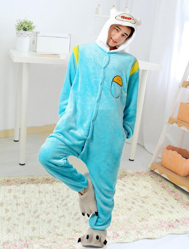 New Adult Adventure Time With Finn And Jake Season 2 onesies costume Women  Men animal pajamas cosplay pyjama party halloween 37ac20f4c