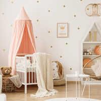 Cartoon Polka Dots Wall Sticker Baby Nursery Kids Room Nordic Gold Polka Dots Wall Decal Bedroom Living Room Vinyl Decor star