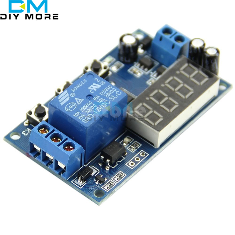 DC12V LED Display Digital Delay Timer Control Switch Relay Module PLC Automation