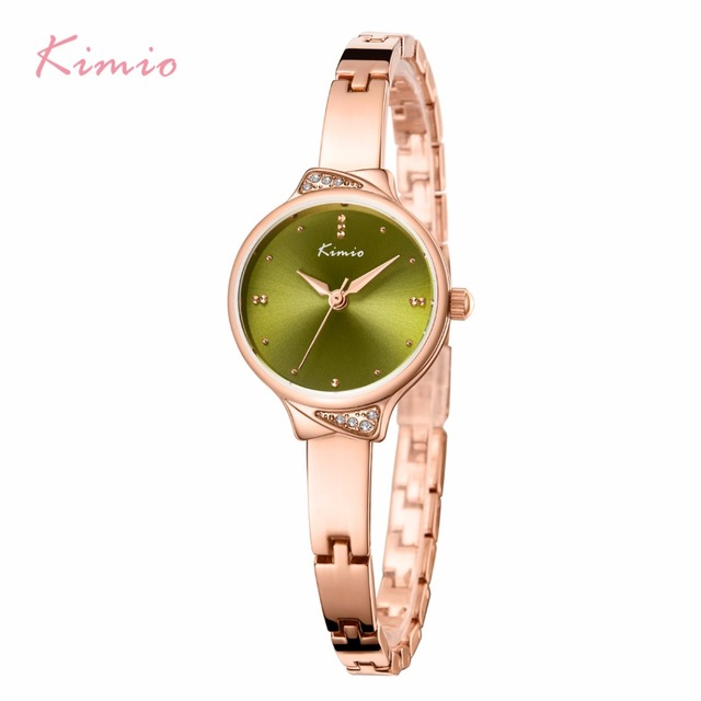 KIMIO Women Crystal Tie Bracelet Watches Exquisite Ladies Solar Small Dial Quart
