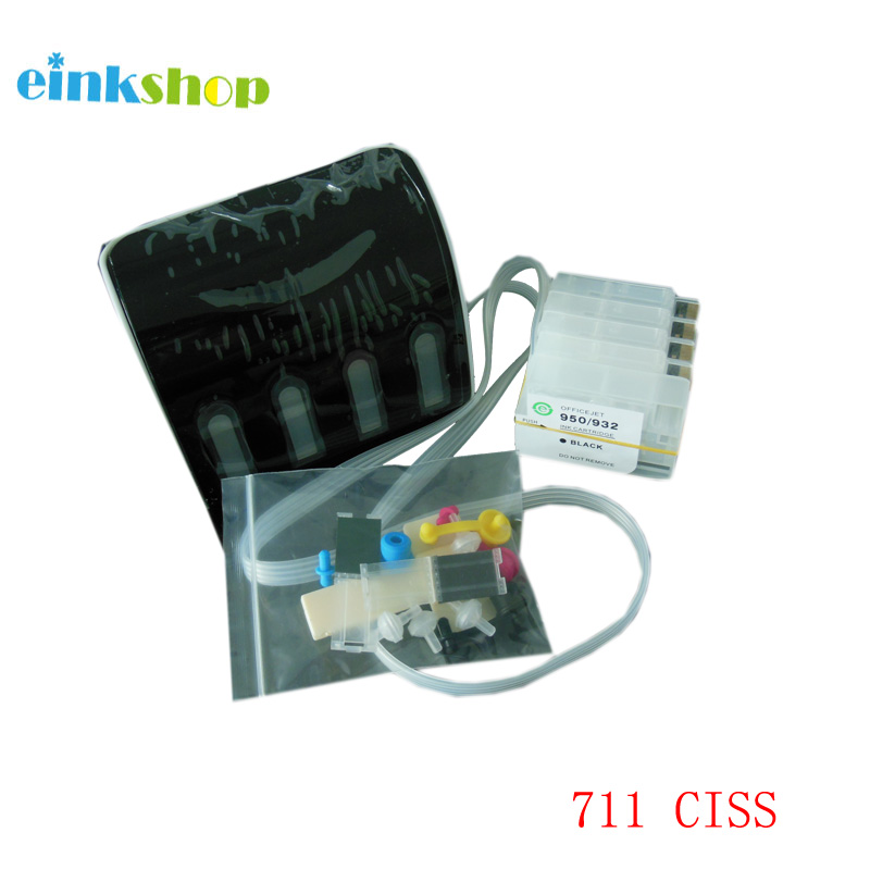 einkshop CISS For HP 711 For HP T120 T520 Continuous Ink Supply System for HP DesignJet T120 T520 Printer with Auto Reset Chip 1pcs for hp 711 711xl cz133a black printer ink cartridge for hp designjet t120 t520 ink jet printer free shipping hot sale