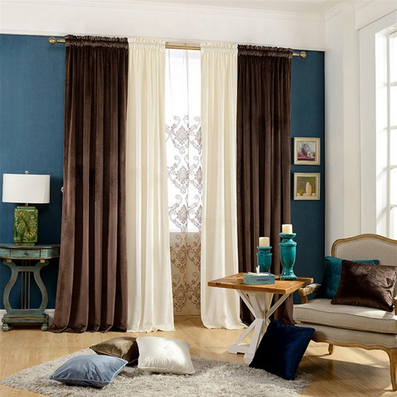 Bedroom Curtains Solid Color Japan Window Shades Imitation: Upscale Italian Velvet Solid Color Stitching Blackout