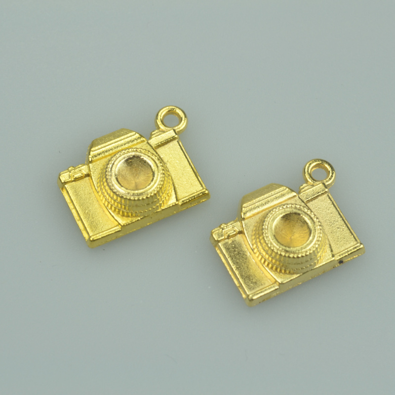 40 pcs metal charms gold color camera pendants jewelry findings and components fit Necklaces and bracelets making A4037