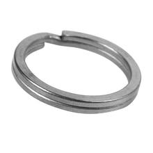 Tiartisan EDC Keychain 5 Pcs/lot Pure Titanium Ring Outdoor Camping Split Rings Stone Wash