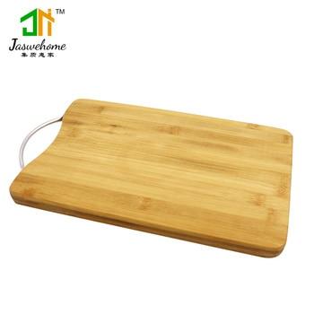 Natural Bamboo Cutting Board Metal Handle Bamboo Serving Board Cheese Borads Chopping Boards