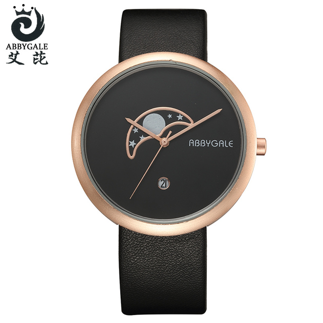Fashion Creative Couple Watches Minimalist Arc Pattern Dial Quartz Wristwatch Si