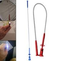 4 klaue LED Licht Magnetische Lange Frühling Grip Hause Wc Gadget Kanalisation Reinigung Pickup Werkzeuge Flexible Pick Up Werkzeug Magnet-in Handwerkzeug-Sets aus Werkzeug bei