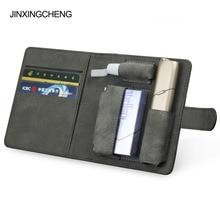JINXINGCHENG אופנה Flip ספר כיסוי עבור iqos רב 3.0 מקרה מחזיק כיסוי ארנק עור מקרה עבור iqos 3 רב