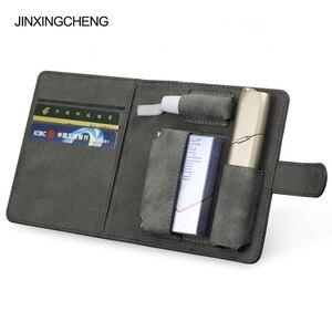 Image 1 - JINXINGCHENG mode couverture de livre à rabat pour iqos Multi 3.0 porte étui couverture portefeuille en cuir étui pour iqos 3 Multi