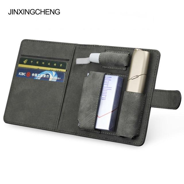 JINXINGCHENG mode couverture de livre à rabat pour iqos Multi 3.0 porte étui couverture portefeuille en cuir étui pour iqos 3 Multi