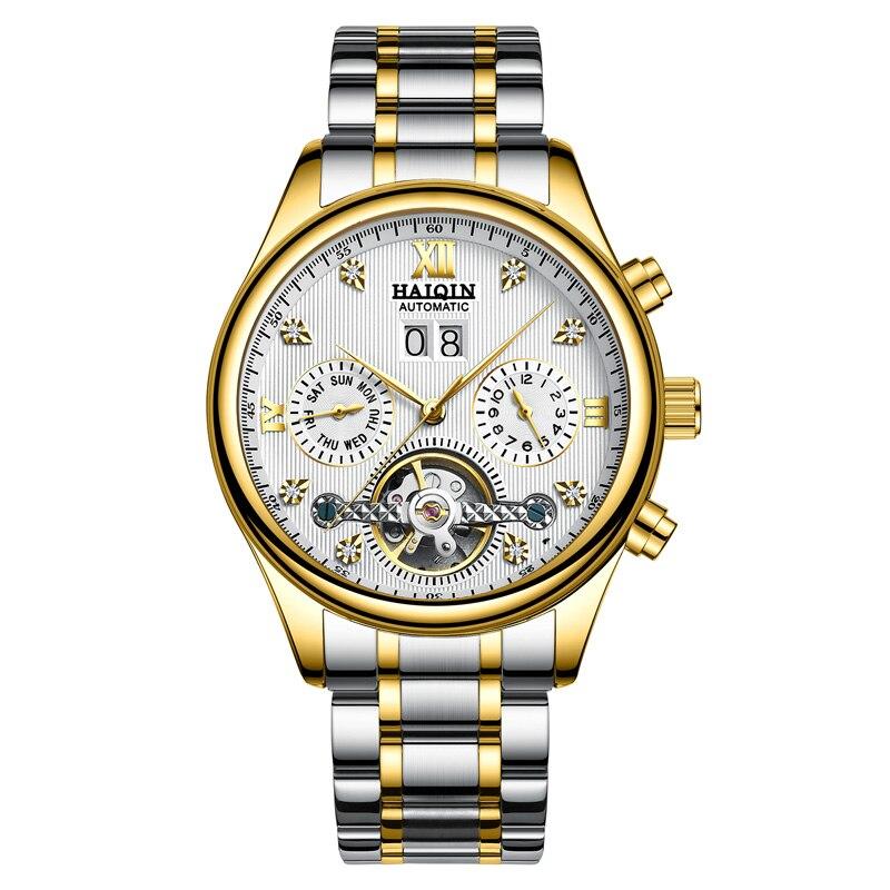 HAIQIN hommes montres automatiques mécaniques hommes montres affaires montre hommes top marque de luxe militaire étanche Tourbillon horloge - 4