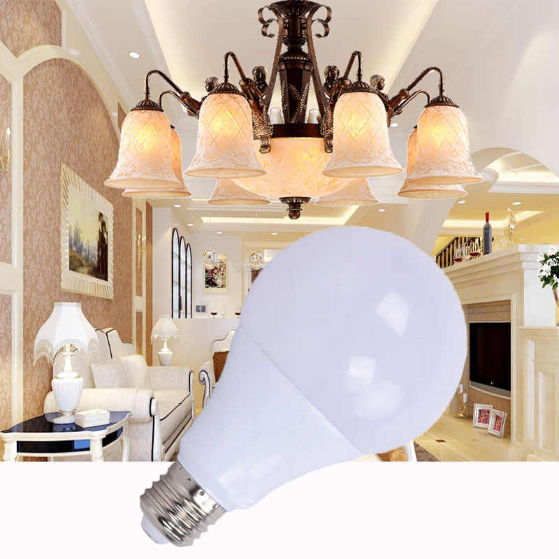 E27 LED Lamp High Bright LED Bulb 3W 5W 7W 9W 12W 15W 18W LED Light Bulb AC220V Cold White Warm White for Indoor Lighting