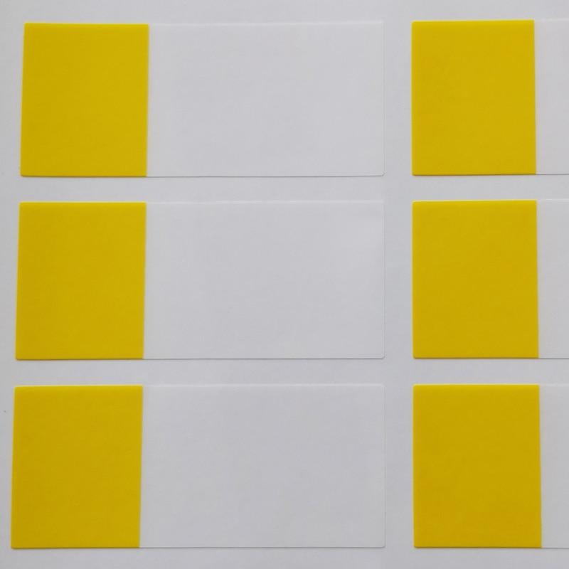 270 шт./лот 58x25 мм Рука обмотки сети наклейки на сетевой кабель, водонепроницаемый и прочный для когда-либо использования, пункт № HT05 - Цвет: yellow