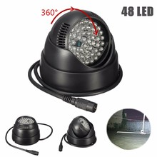 360 Degree Rotate 48 LED For IR Infrared Night Vision Assist