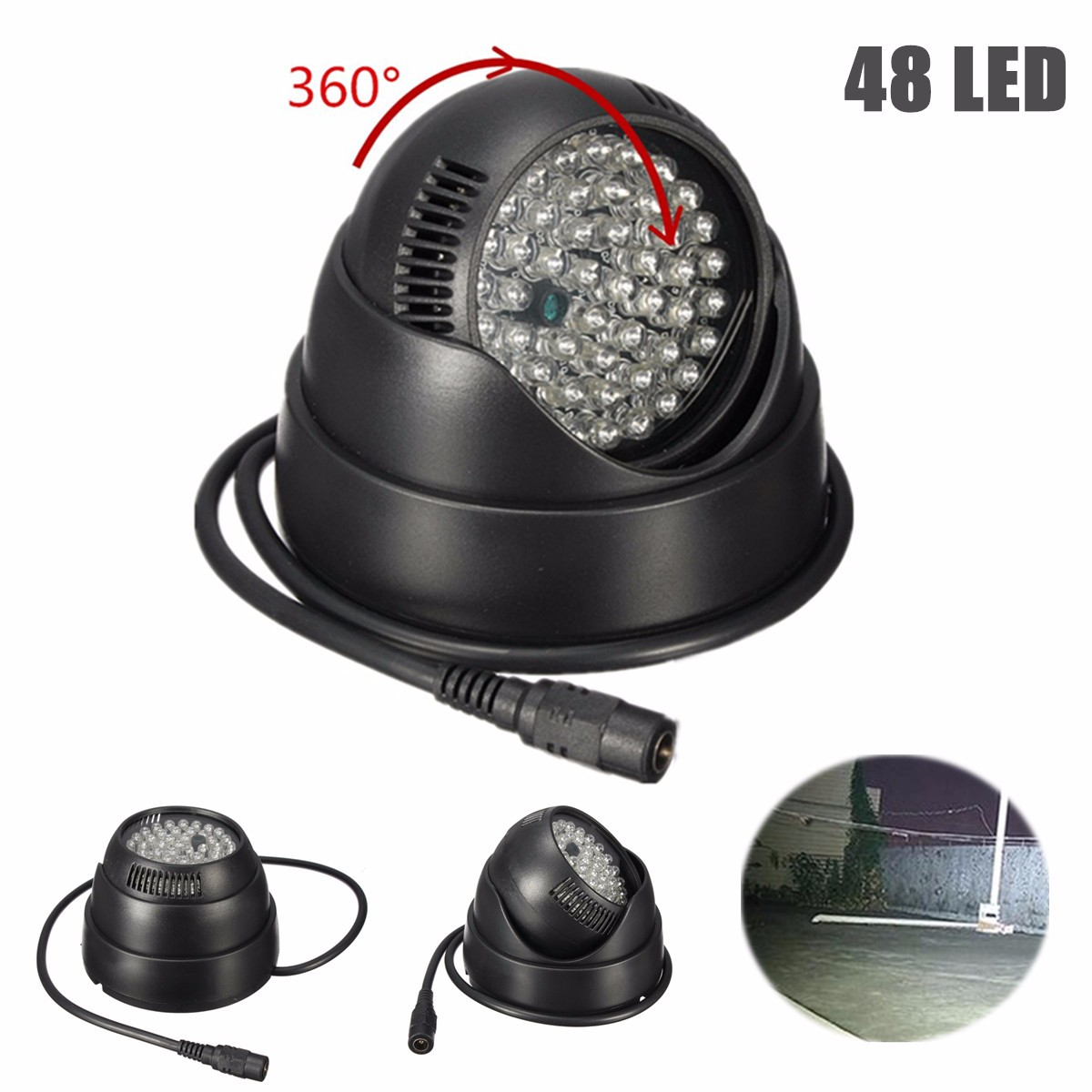 Rotation de 360 degrés 48 LED pour le lampe à LED d'assistance de Vision nocturne infrarouge IR pour la caméra de sécurité de Surveillance CCTV
