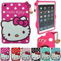 Cute Cartoon 3D Hello Kitty Soft Silicone Cover Case For Samsung Galaxy Tab 4 7 inch T230 Kid Gift