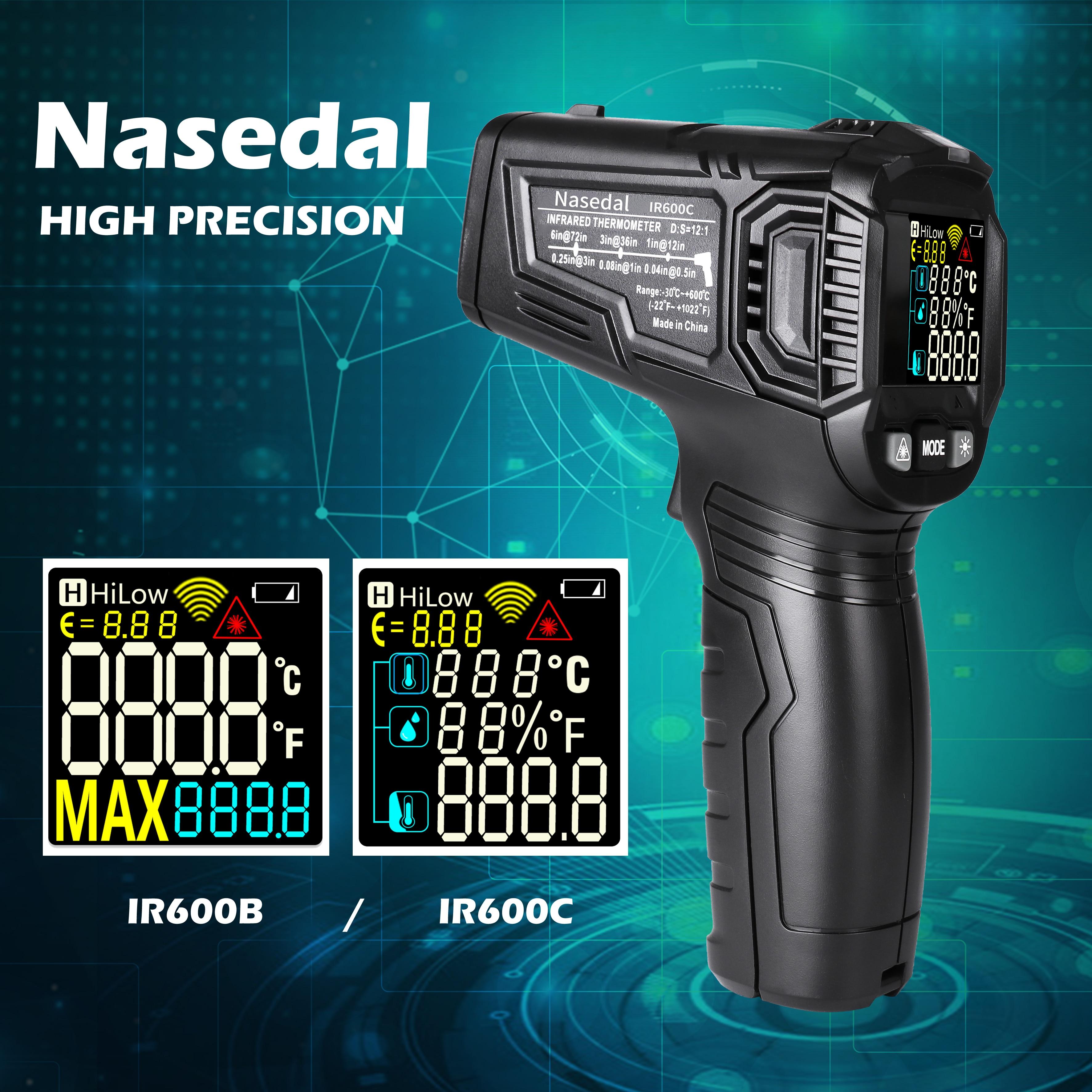 Ir600 digital termômetro medidor de umidade termômetro infravermelho higrômetro temperatura medidor de umidade pirometer