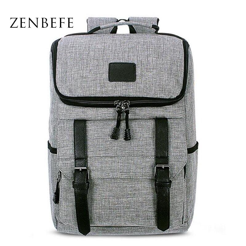 ZENBEFE Design Backpacks Good Quality MenS Travel Bags Vintage School For Teenager Daily Backpack Business Man Bookbag
