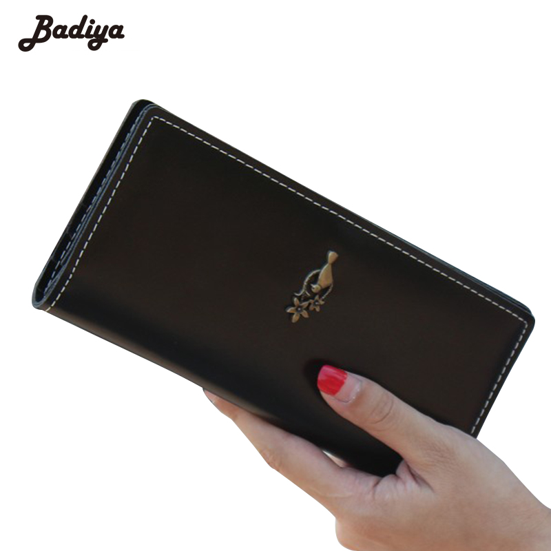 Ultra Thin Solid Metal Bird Ladies Wallet New Design Vintage PU Leather Womens Purse Wallet For Women women ladies flats vintage pu leather loafers pointed toe silver metal design