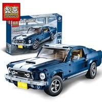DG 023 Lepinlys Technic Expert Mustang Car Compatible legoINGlys 10265 Building Blocks Bricks Assembled birthday christmas Gifts