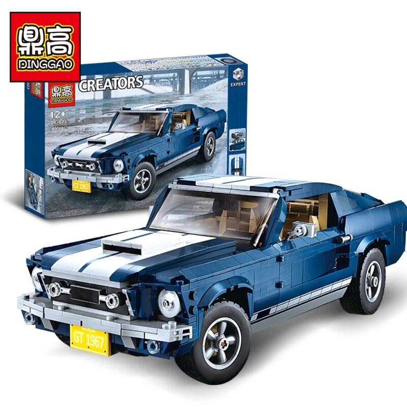 DG 023 Lepinlys Technic Expert Mustang voiture Compatible legoINGlys 10265 blocs de construction briques assemblées anniversaire cadeaux de noël