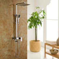 Manufacturers Selling All Copper Thin Big Top Spray Shower Set Cold Tropical Shower Set File