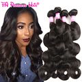 Peerless 7a pelo sin procesar virginal Peruana cuerpo virgen de la onda del pelo 4 bundles cabello humano bundles pelo increíble empresa