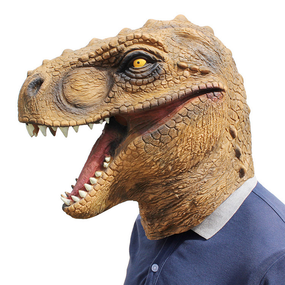 Mask Halloween Dinosaur Masks Jurassic World Cosplay Mask Adults Animal Costume Party Mask Supplies L711