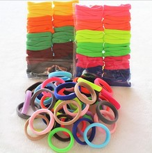 Hair Holders 10/20/24/30/40/50/100pcs Seamless Gum Elastic Rubber Bands Elasticity Holder Rope Girls Accessories