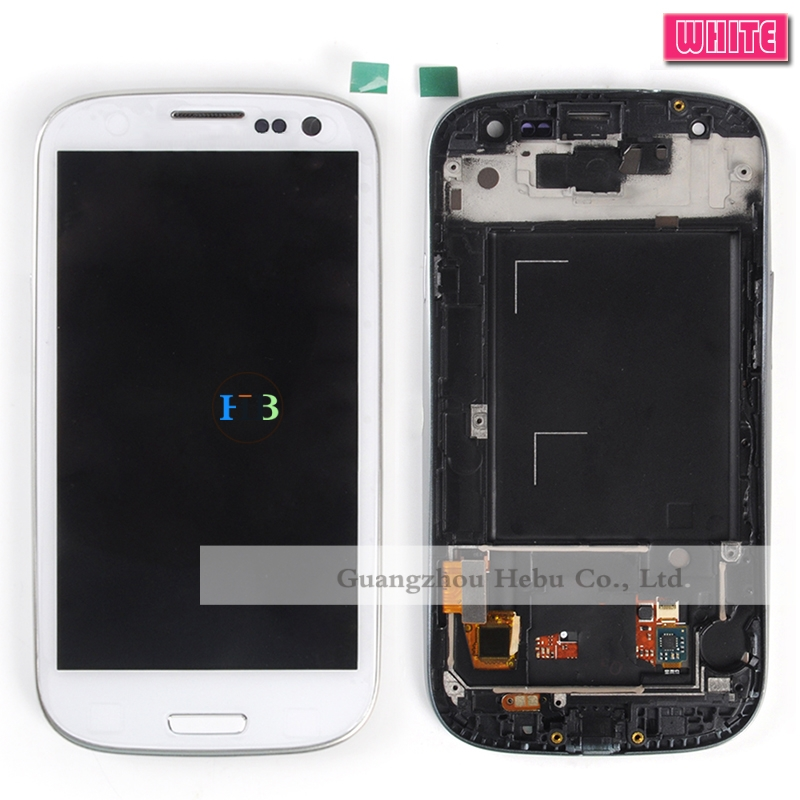 Brand New S3 Lcd Screen Digitizer With Touch Assembly For Samsung Galaxy S3 I9300 I9301 I9305 Lcd With Frame 1pcs Free Shipping title=