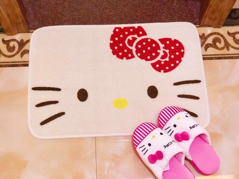 1 Pcs Cartoon Beige Hello Kitty Voordeur Keuken Matstoilet Mat 40x60 Cm Om Een Ongewoon Uiterlijk Zeker Te Stellen