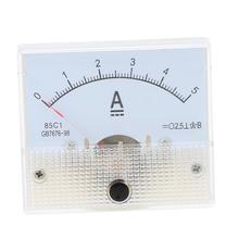 DC 0-5A Mini Portatile Analogico Ampere meter Amperimetro Pannello di Corrente Tester Per Esperimento O per Uso Domestico Amperometro