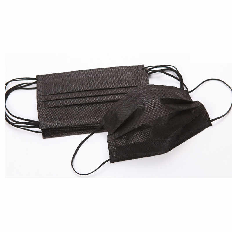 3 10pcs Mask Face Medical Woven Disposable Layer Non Black