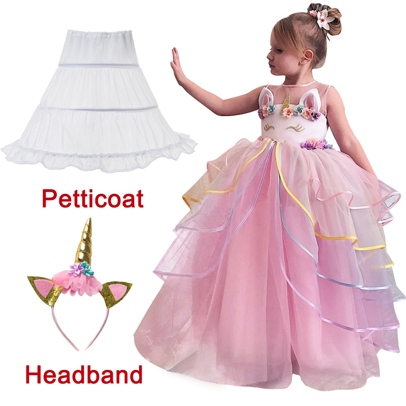 Unicorn Dress for Girl Party Dress Princess Costume Kids Party Dresses For Girls Evening Gown Birthday Summer Children ClothesUnicorn Dress for Girl Party Dress Princess Costume Kids Party Dresses For Girls Evening Gown Birthday Summer Children Clothes