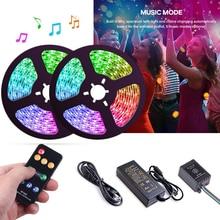 Commande musicale, 5 20m, LED bandes lumineuses couleur de rêve, WS2811, LED bandes RGB, 5050, SP106E, télécommande RF, avec adaptateur 12V pour fête