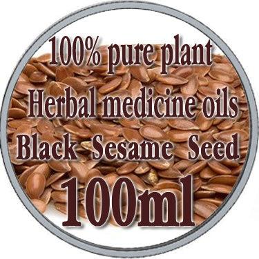 ФОТО 100% pure plant Herbal medicine oil black sesame seed herbal oil 100ml Essential oil traditional Chinese Flax kernel herbal oil