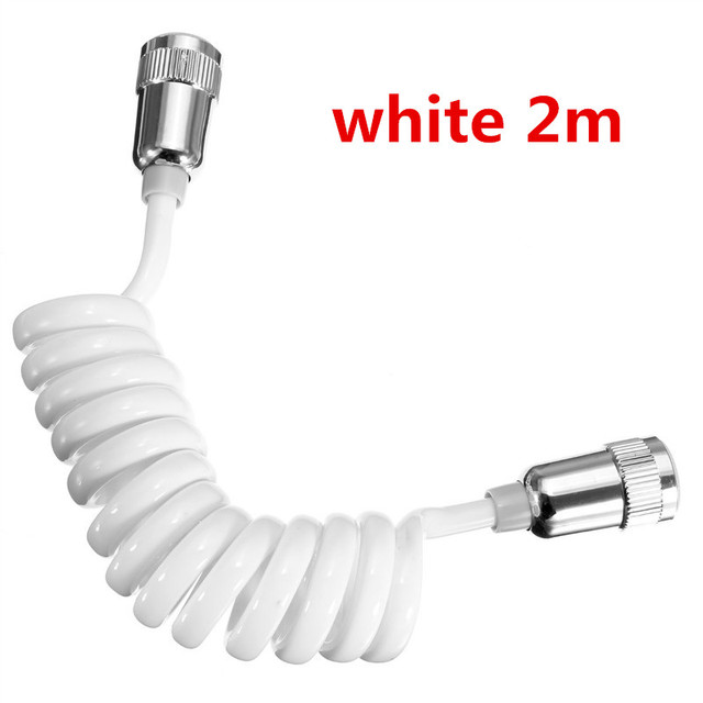 ABS Telephone Line Style Spring Flexible Shower Hose Water Plumbing P/_xbPLUS