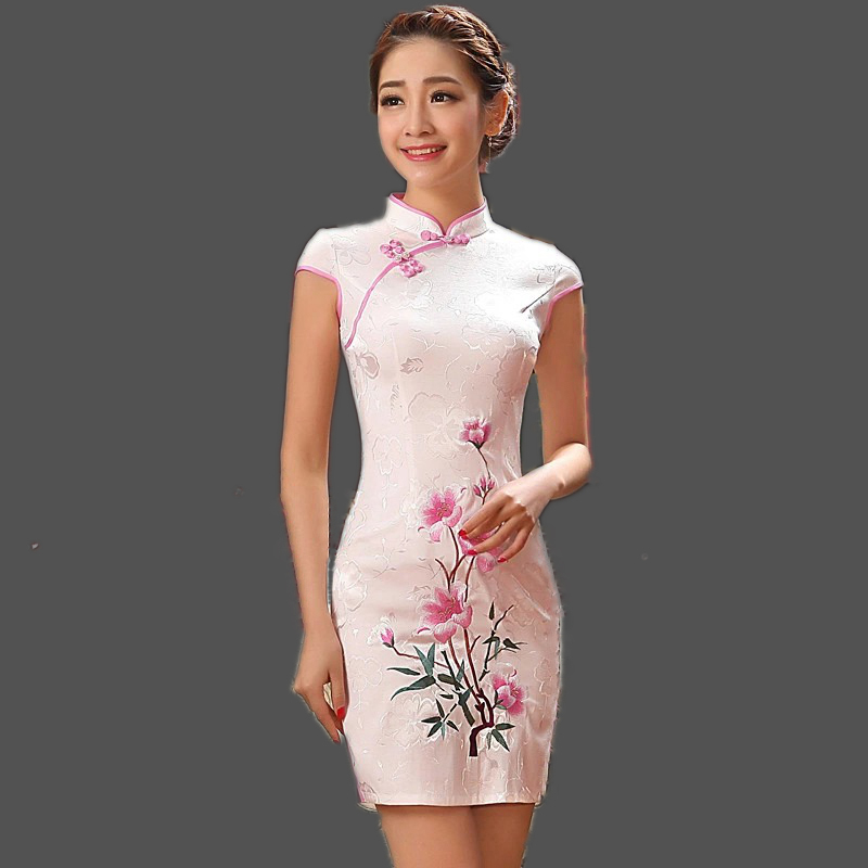 Short qipao tang suit painting cheongsam vintage style chinese online
