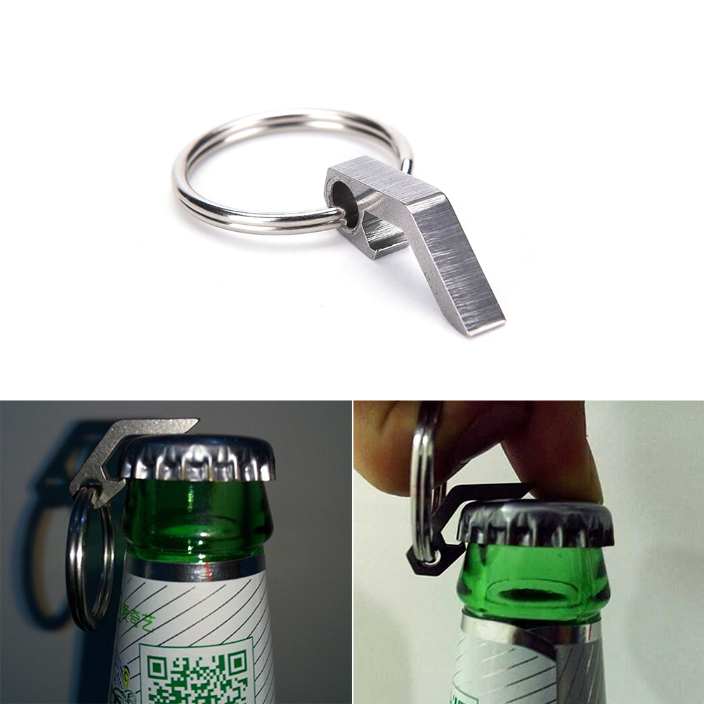 1Pcs EDC Mini Bottle Opener Keychain Tools Outdoor EDC Camping Equipment Pocket Lightweight Tools