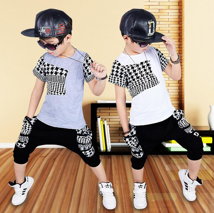 2017 new summer style fashion print Baby boys brand t-shirts & big pocket shorts sports clothes hip hop suits Kids clothing sets hot sale 2016 kids boys girls summer tops baby t shirts fashion leaf print sleeveless kniting tee baby clothes children t shirt